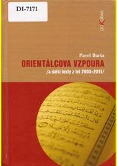 Obal knihy Orientálcova vzpoura CZ