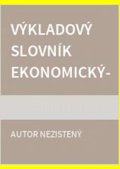 Obal knihy Výkladový slovník ekonomických pojmov