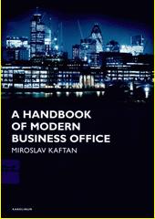Obal knihy A Handbook of modern business office CZ