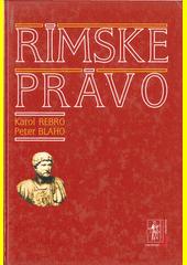 Obal knihy Rímske právo