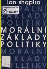 Obal knihy Morální základy politiky CZ