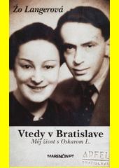Obal knihy Vtedy v Bratislave