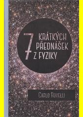 Obal knihy 7 krátkých přednášek z fyziky CZ