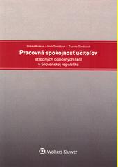 Pracovná spokojnosť učiteľov stredných odborných škôl v Slovenskej republike