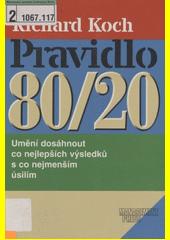 Obal knihy Pravidlo 80/20 CZ
