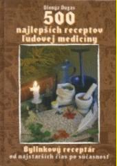 Obal knihy 500 najlepších receptov ľudovej medicíny (darčeková väzba)