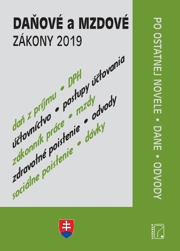 Obal knihy Daňové a mzdové zákony 2019 - po novele + dane a odvody