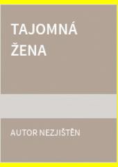 Obal knihy Tajomná žena