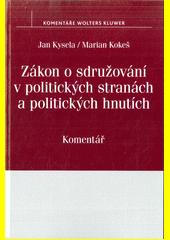 Obal knihy Zákon o sdružování v politických stranách a politických hnutích