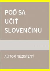 Poď sa učiť slovenčinu